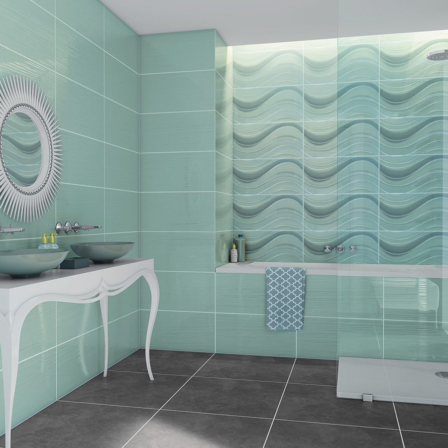 Carrelage salle de bain turquoise fashion designs for Carrelage turquoise