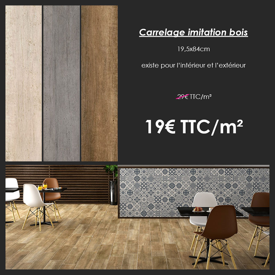 promotion carrelage imitation bois int rieur ext rieur franceschini. Black Bedroom Furniture Sets. Home Design Ideas